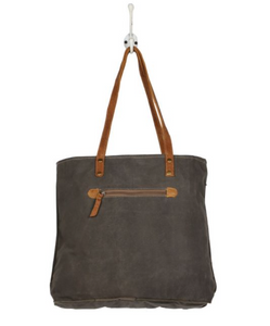 LEATHER POCKET TOTE BAG