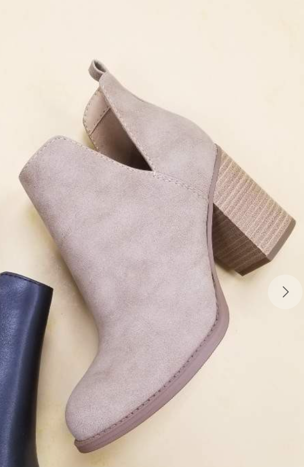 SIDE CUT OUT BOOTIES (Carmel)
