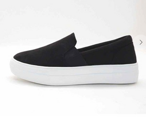 Black Suede Slip-On Shoes