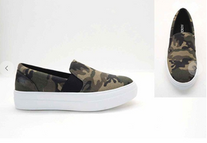 Camo Khaki Slip-On Shoes