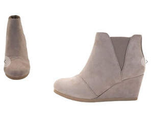 BOOTIES WEDGE  TAUPE