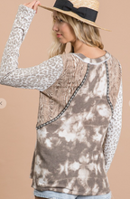 Load image into Gallery viewer, Multi Print Mixed Soft Long Sleeve Top