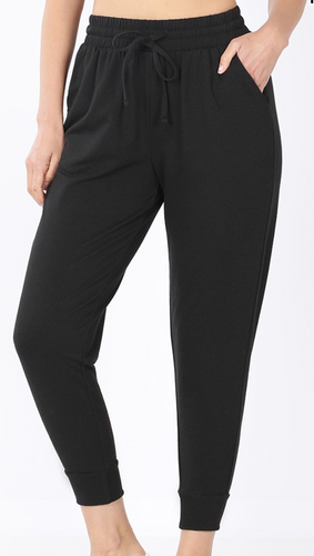 FRENCH TERRY CAPRI JOGGER SWEATPANTS