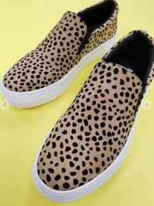 SNEAKERS,CHEETAH,SLIP ON