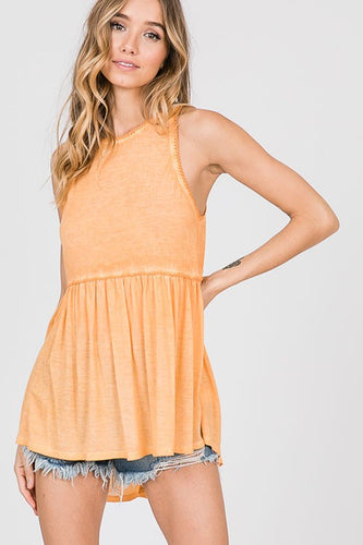 SLEEVELESS BABYDOLL TIE DYE TOP