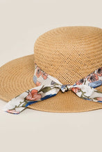 Load image into Gallery viewer, Straw Hat with Floral Band