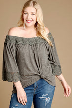 Load image into Gallery viewer, Off-the-Shoulder Lace Trim Top