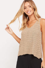 Load image into Gallery viewer, V-NECK KNIT TANK TOP