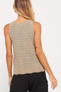 V-NECK KNIT TANK TOP