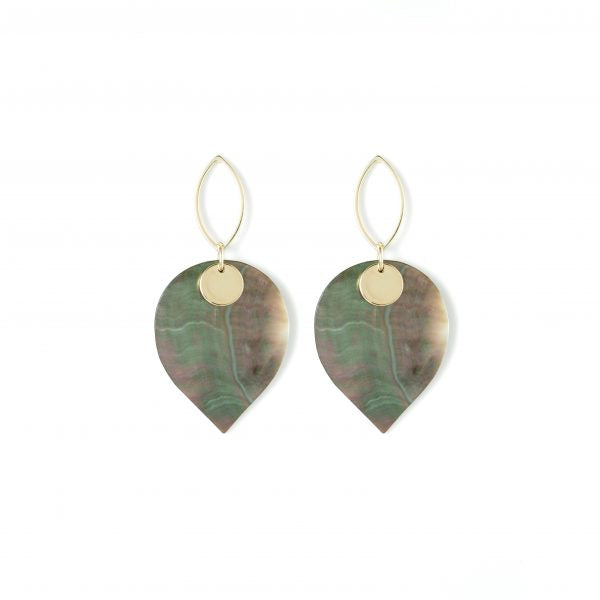 Grey Pear Shaped Earring
