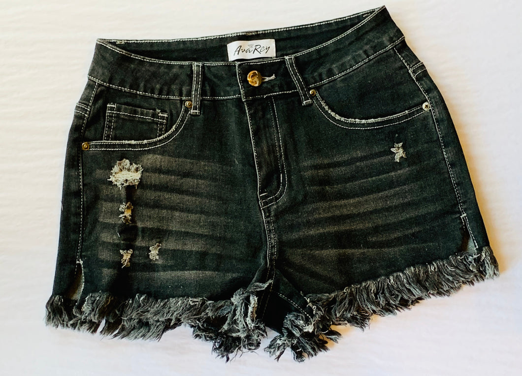 AvaRey Denim Shorts (Black)