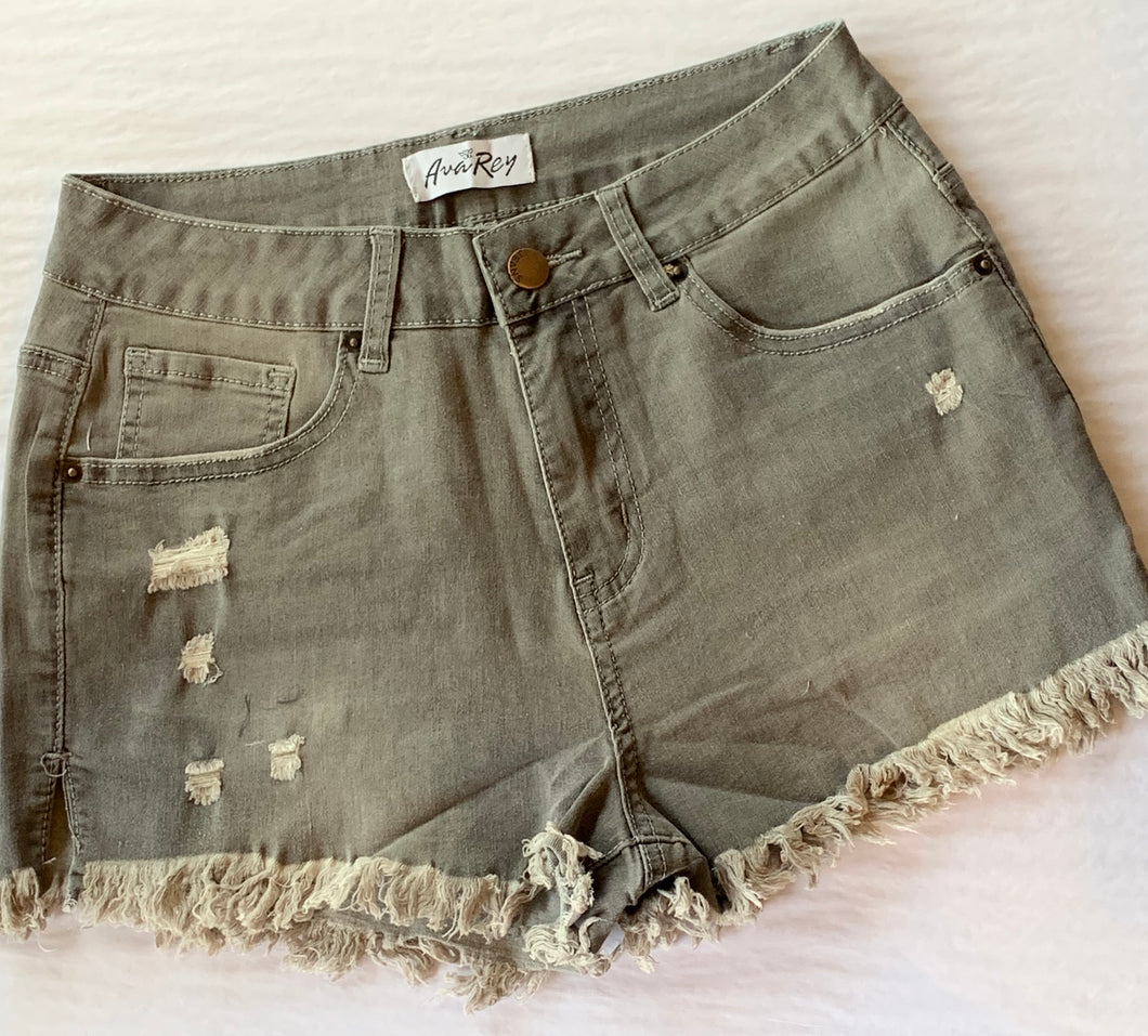 AvaRey Denim Shorts (Gray)