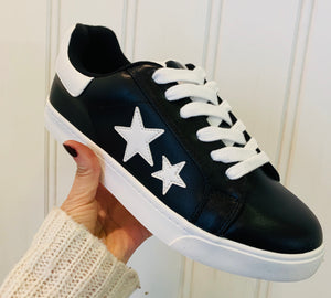 Black Star Lace-Up Shoes
