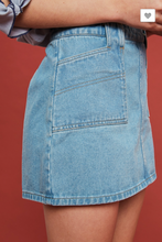 Load image into Gallery viewer, DESTROYED DENIM MINI SKIRT