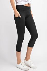 Capri Length  Yoga Pants with Pockets