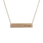 "Load image into Gallery viewer, ""Blessed"" Bar 16'-18"" Necklace"