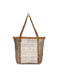 Emblem Side Hair Tote Bag