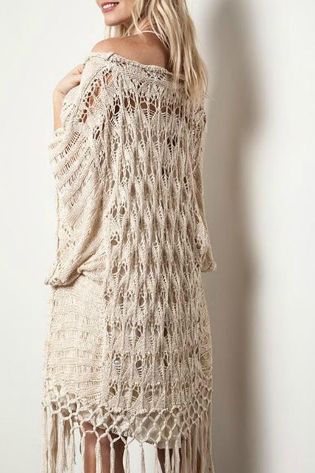 Crochet Knit Fringe Sweater