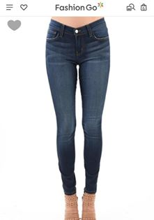 Judy Blue Rayon Skinny Super Stretchy & Soft Dark Blue Jeans