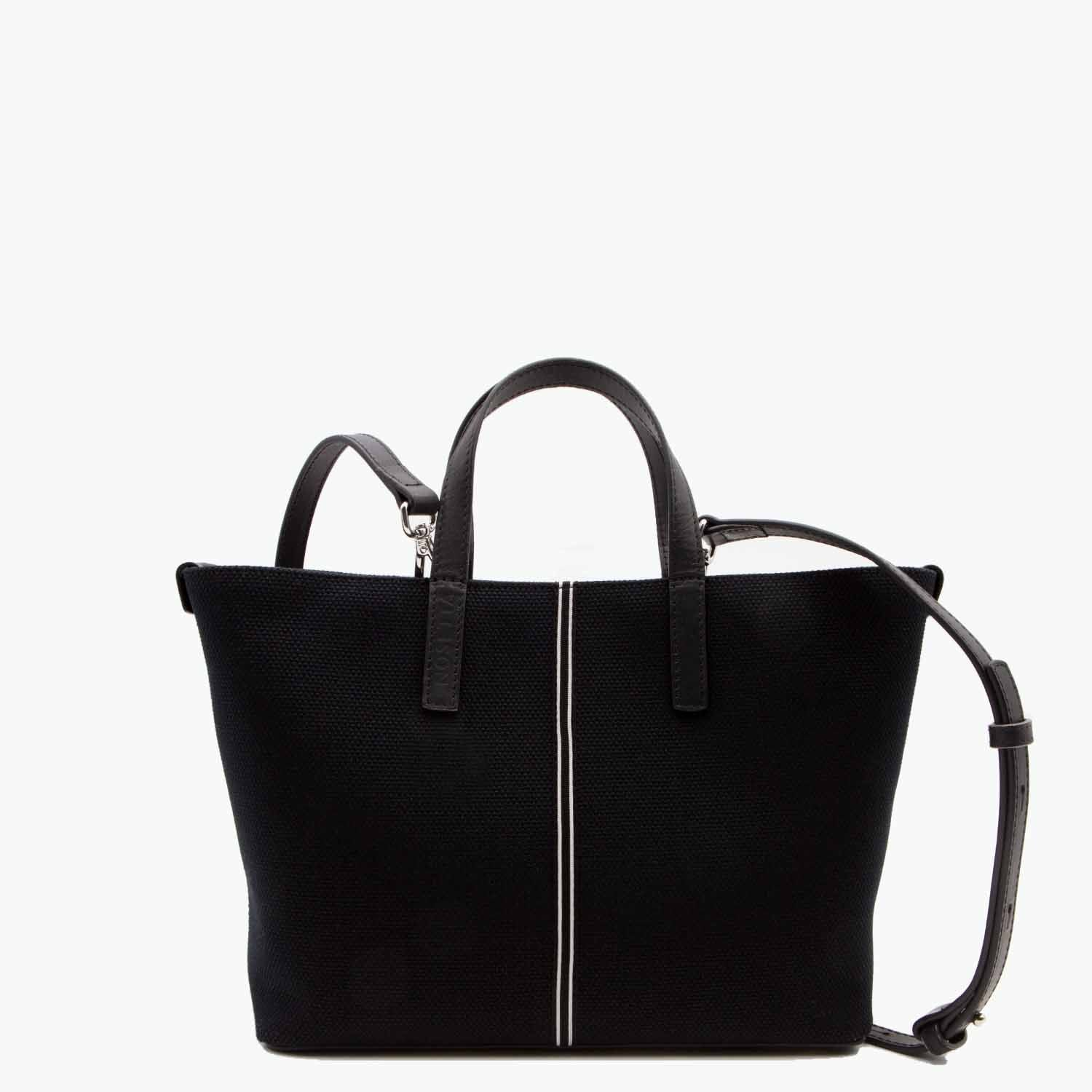Carlia Small Tote Cotton Canvas and Leather - Nosetta