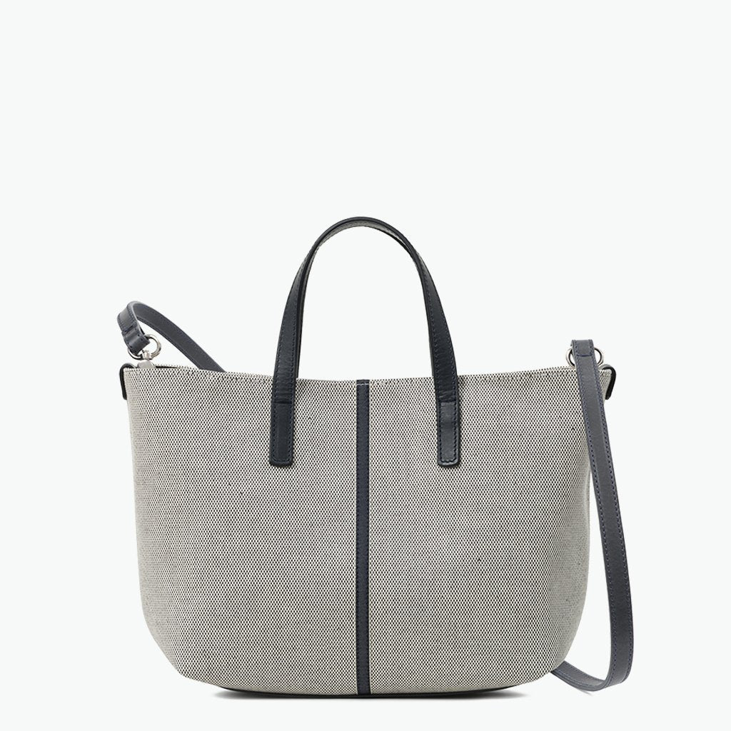 Carlia Small Tote Cotton Tweed and Leather - Nosetta