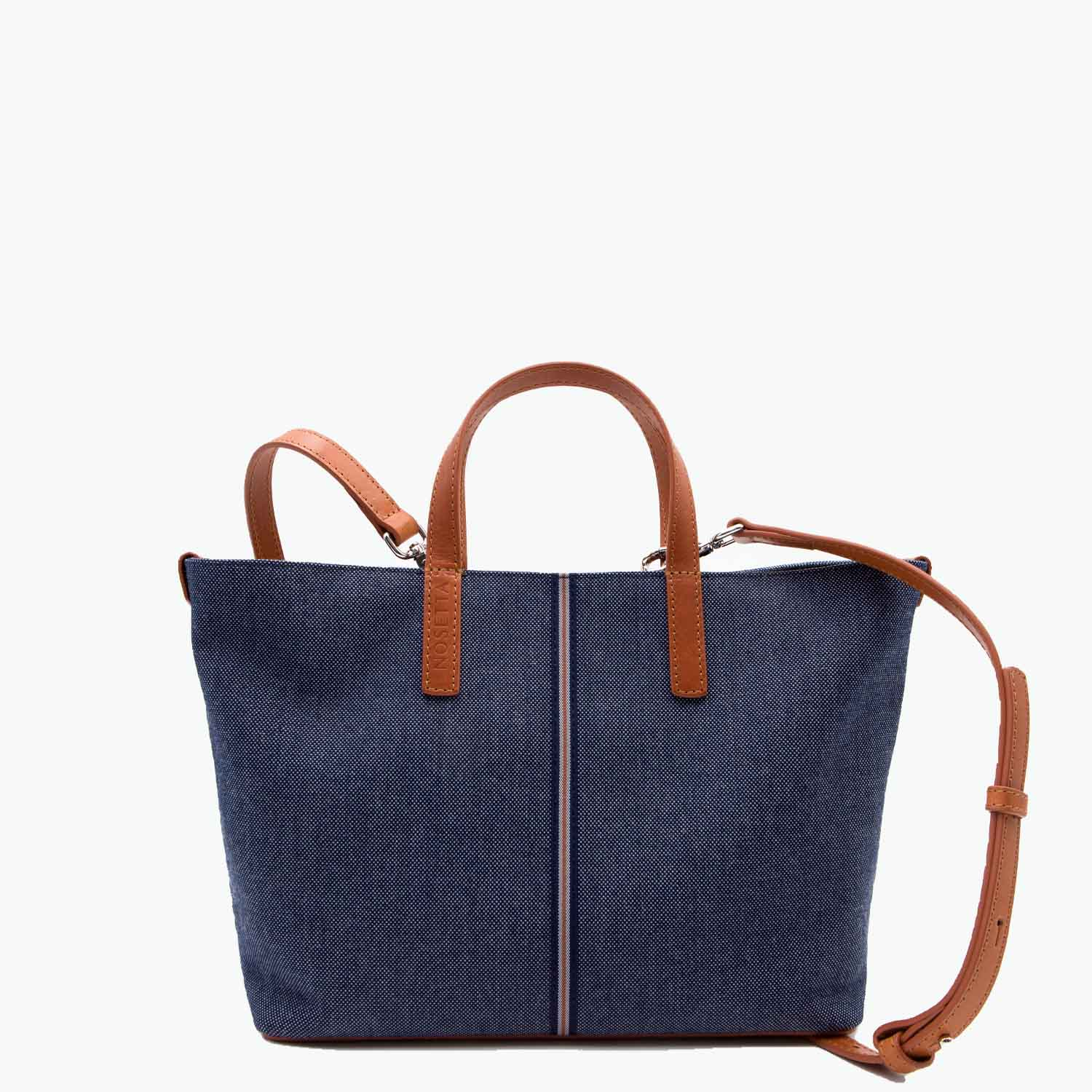 Carlia Small Tote Denim and Leather - Nosetta