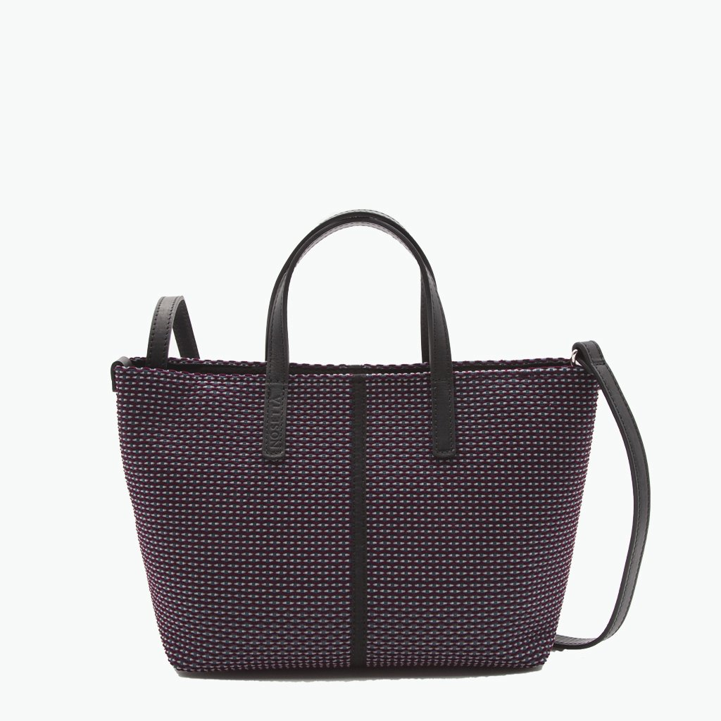 Carlia Small Tote Velvet Tweed and Leather - Nosetta