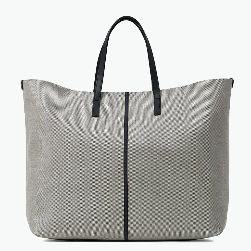 Carlotta Large Tote Cotton Tweed and Leather