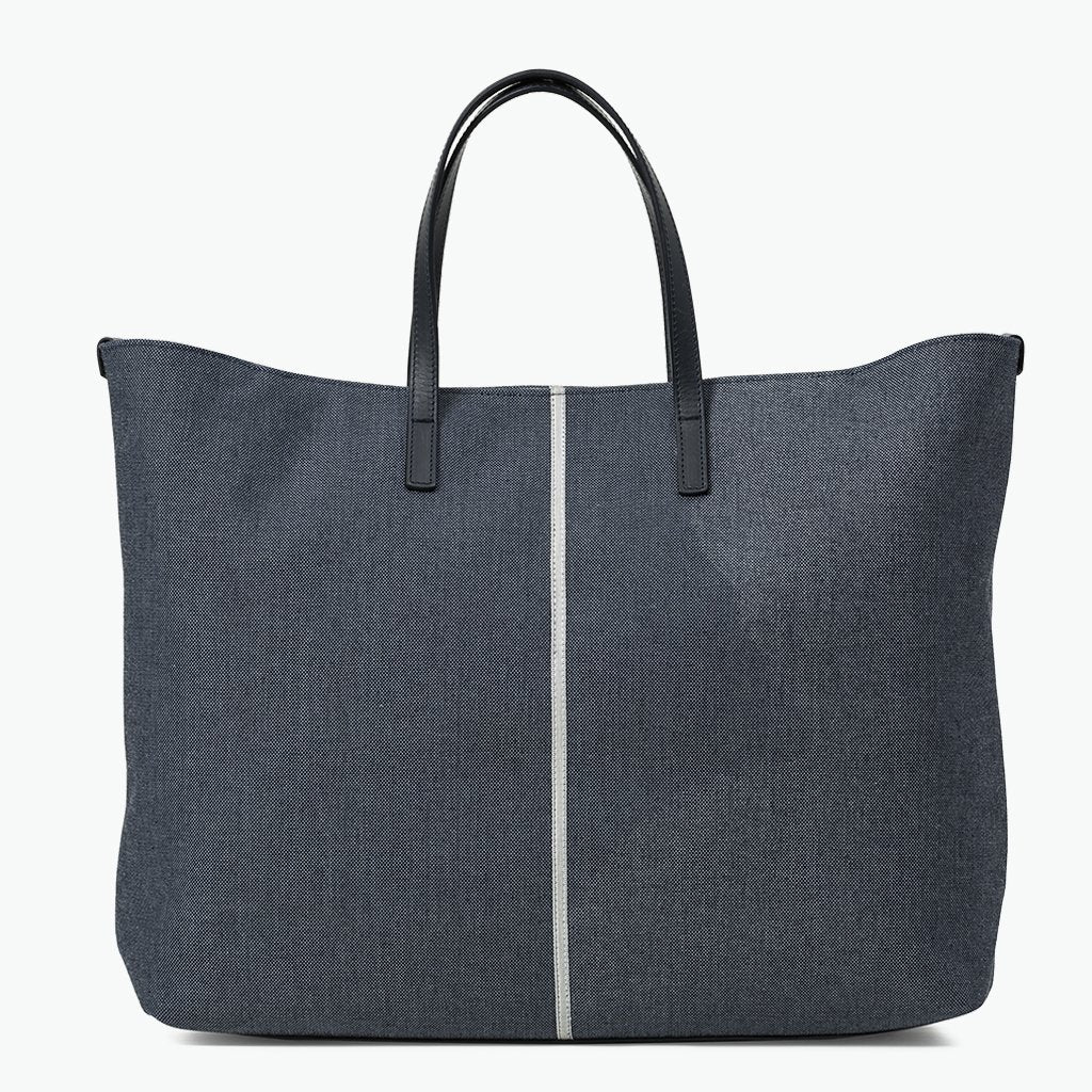 Carlotta Large Tote Denim and Leather - Nosetta