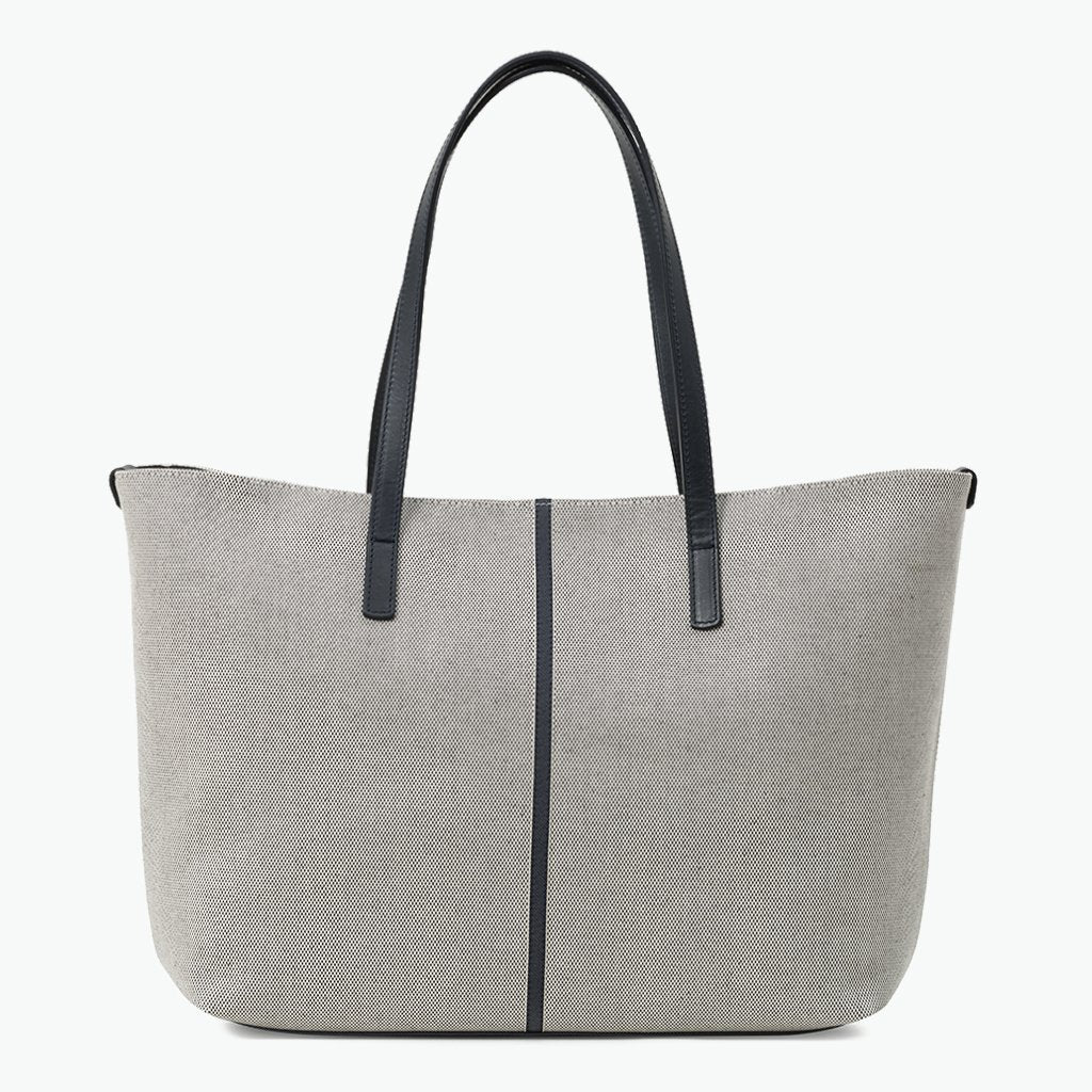 Celesia Medium Tote Cotton Tweed and Leather