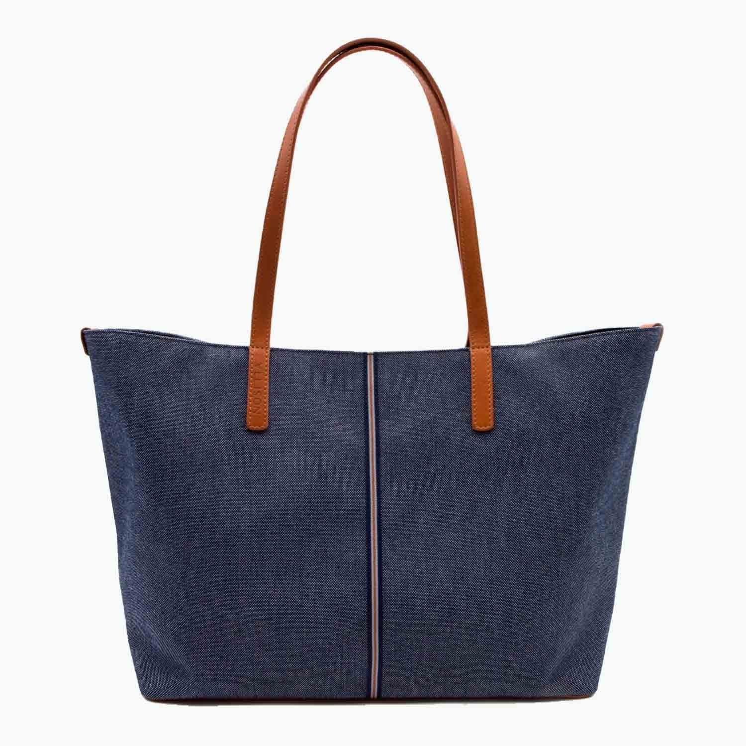 Celesia Medium Tote Denim and Leather