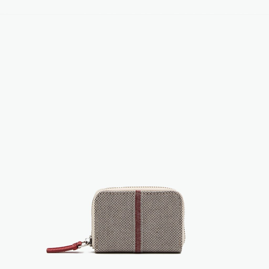 Floria Card Case Cotton Tweed and Leather - Nosetta