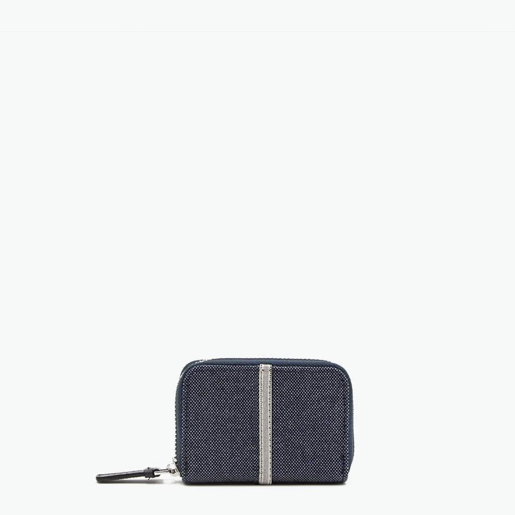 Floria Card Case Denim and Leather - Nosetta