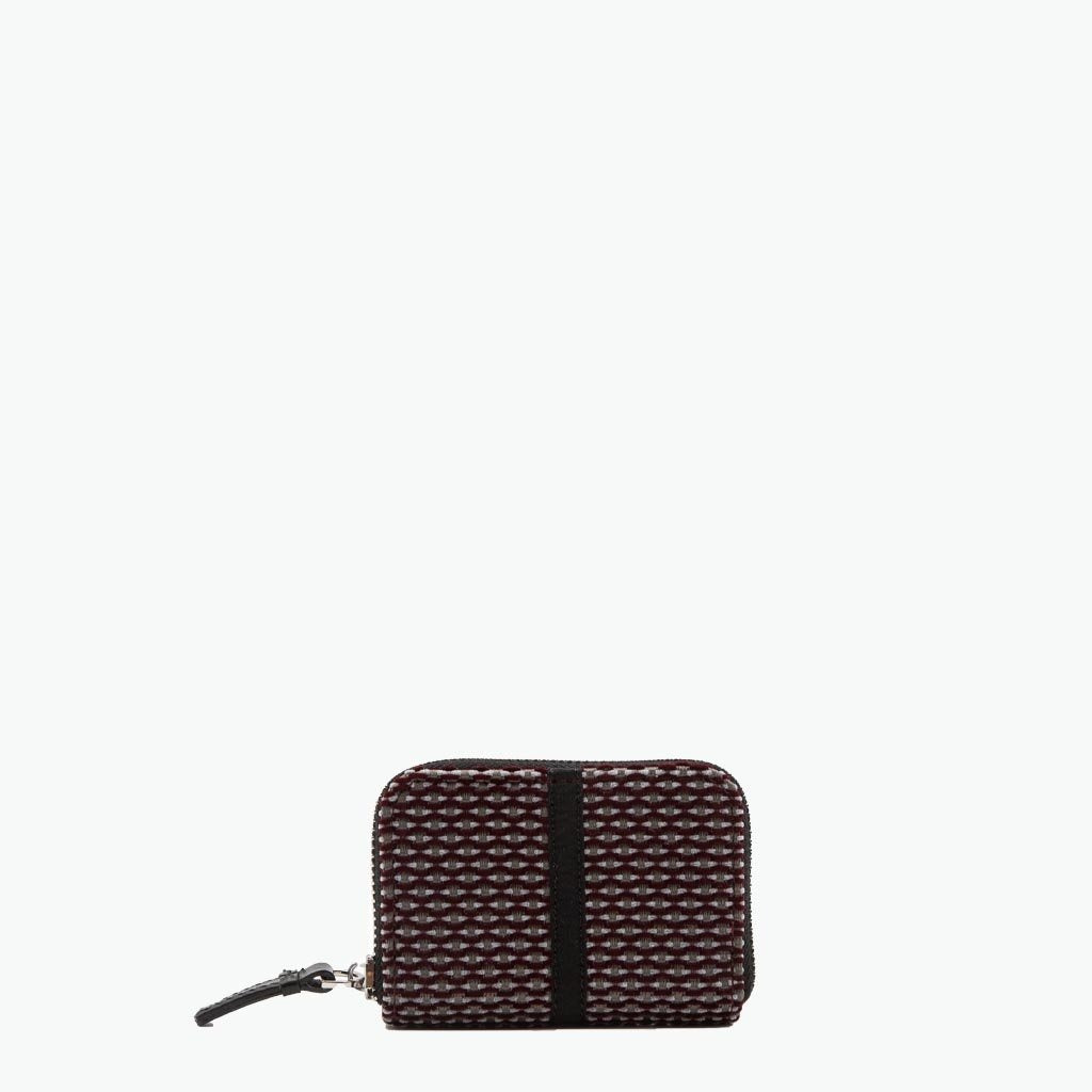 Floria Card Case Velvet Tweed and Leather - Nosetta