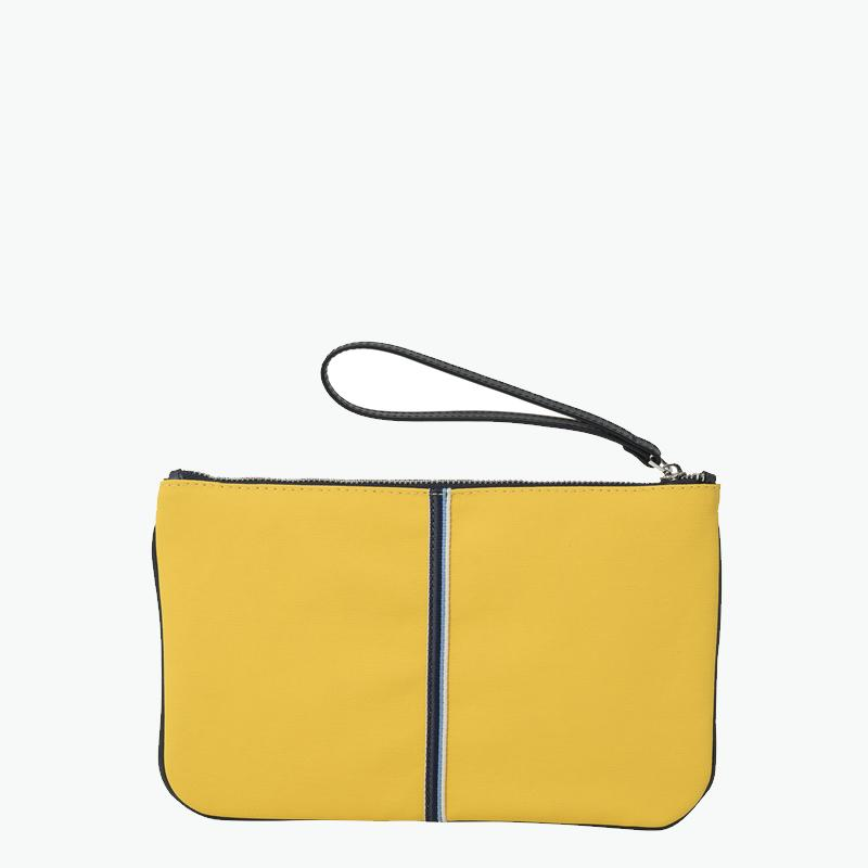 Gallia Clutch Canvas and Leather
