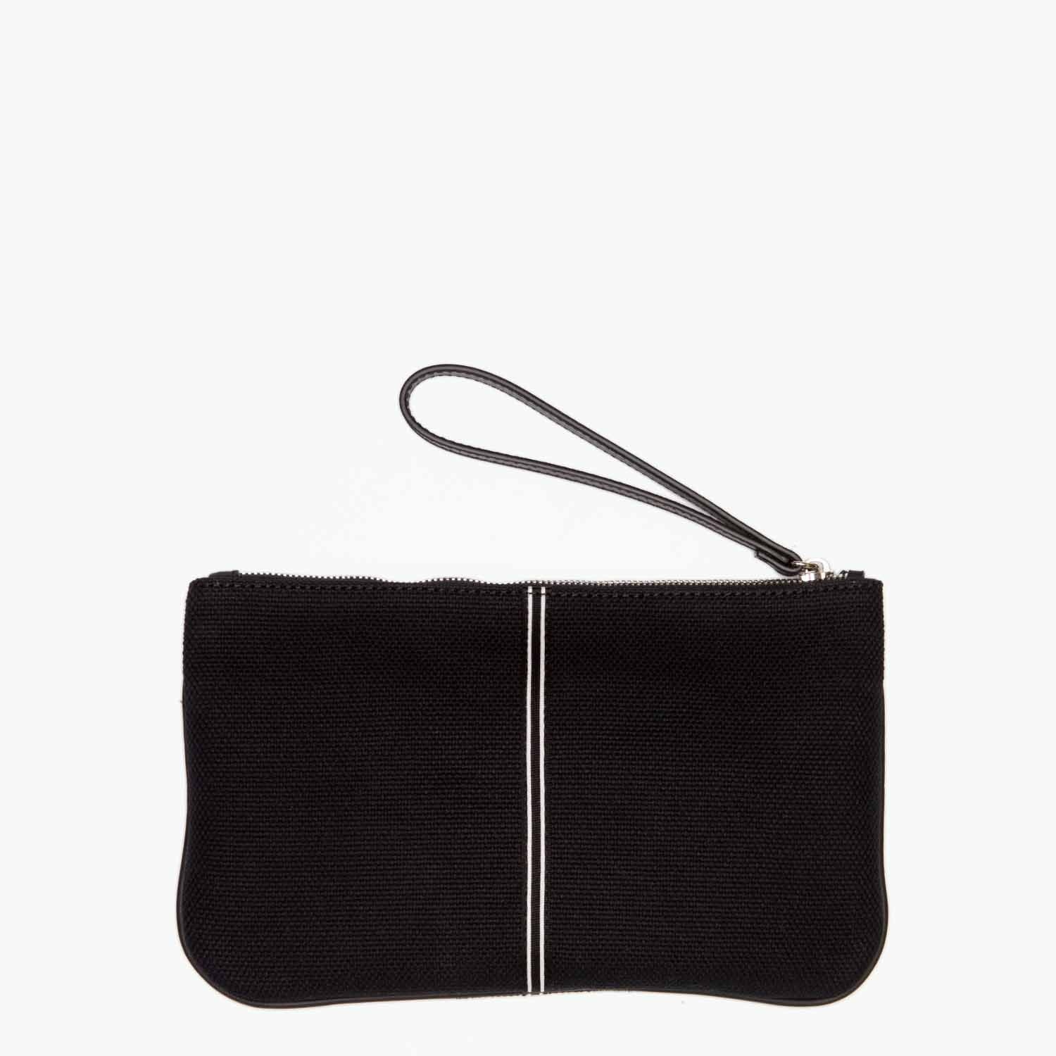 Gallia Clutch Cotton Canvas and Leather - Nosetta