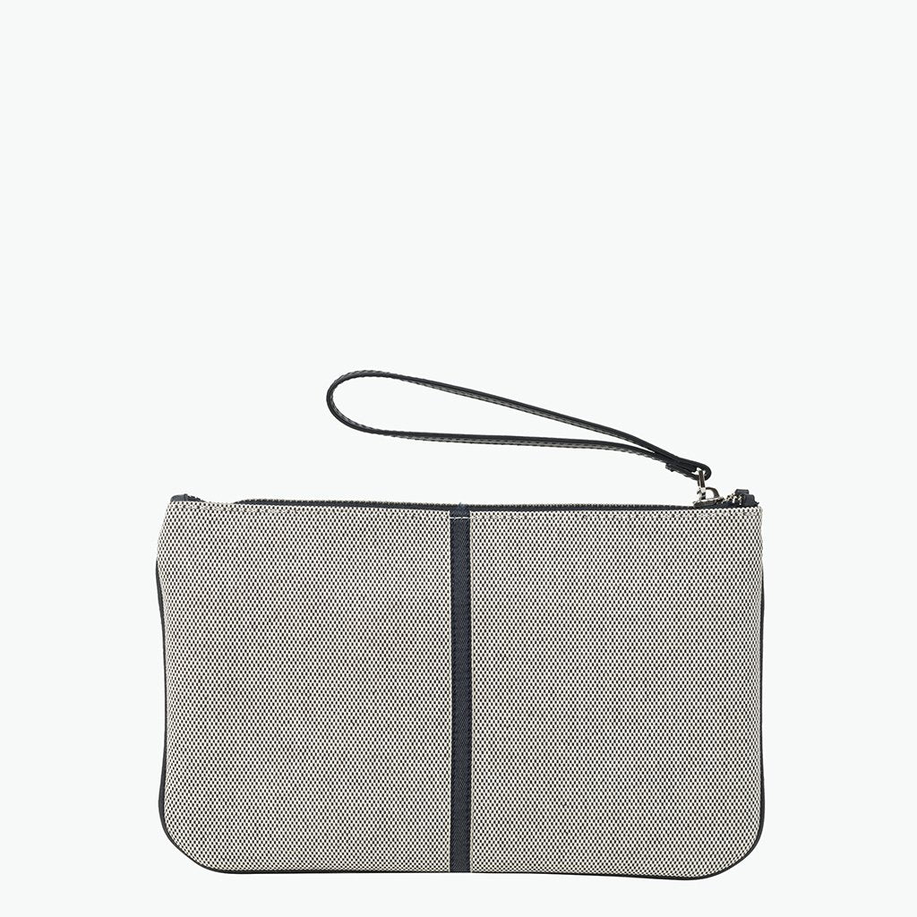 Gallia Clutch Cotton Tweed and Leather - Nosetta