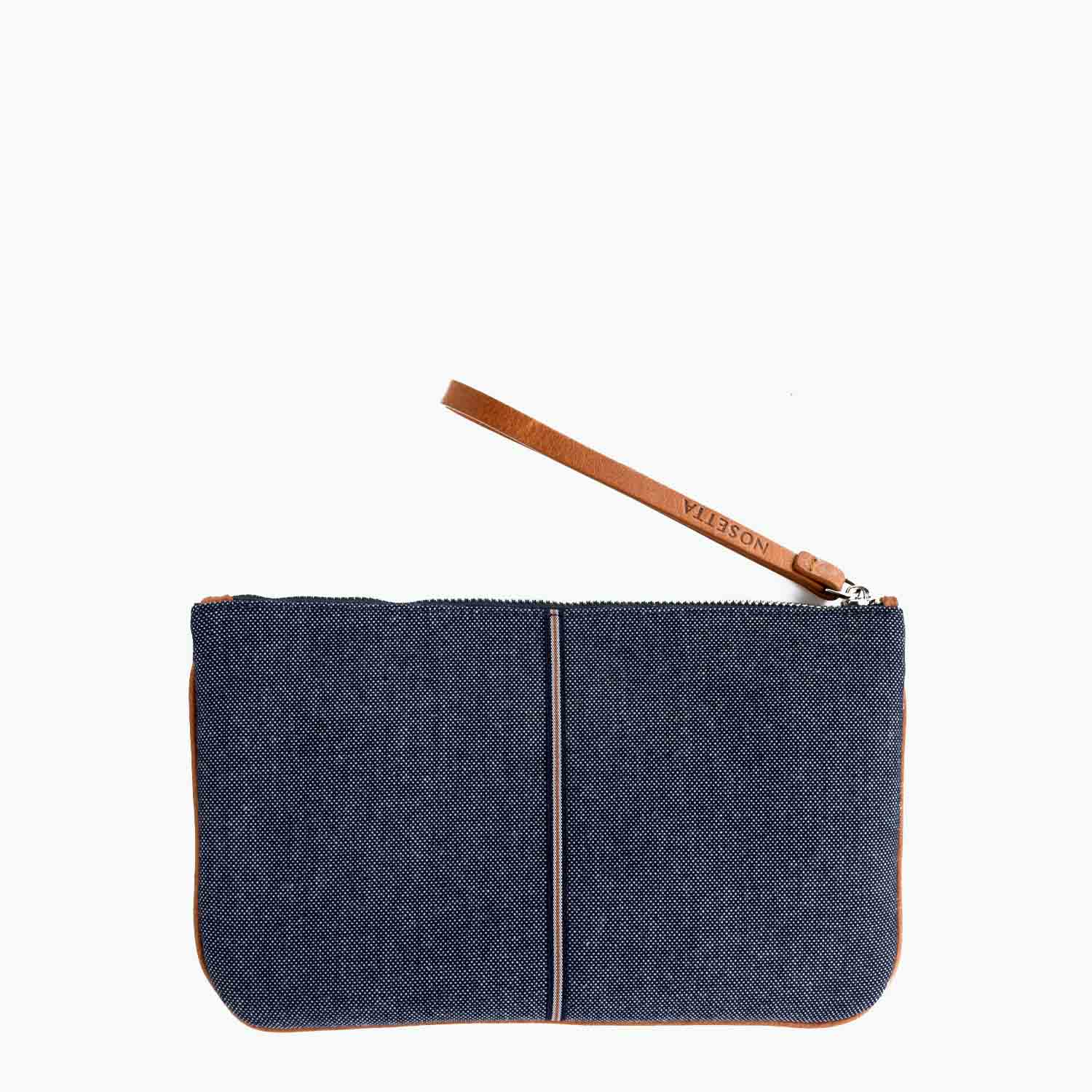 Gallia Clutch Denim and Leather - Nosetta