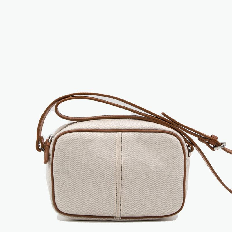 Margherita Crossbody Cotton-Linen and Leather