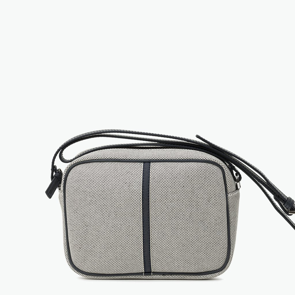 Margherita Crossbody Cotton Tweed and Leather