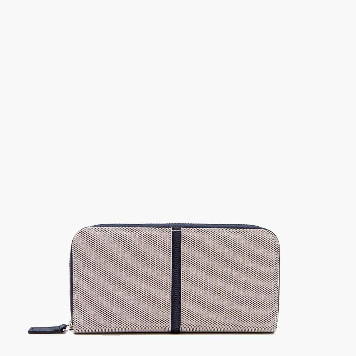 Mia Wallet Cotton Tweed and Leather