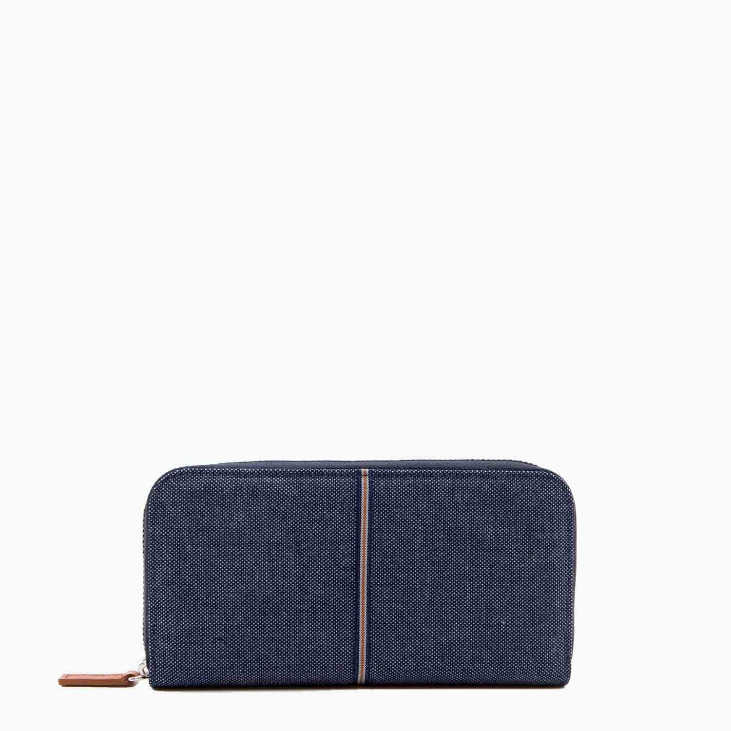 Mia Wallet Denim and Leather