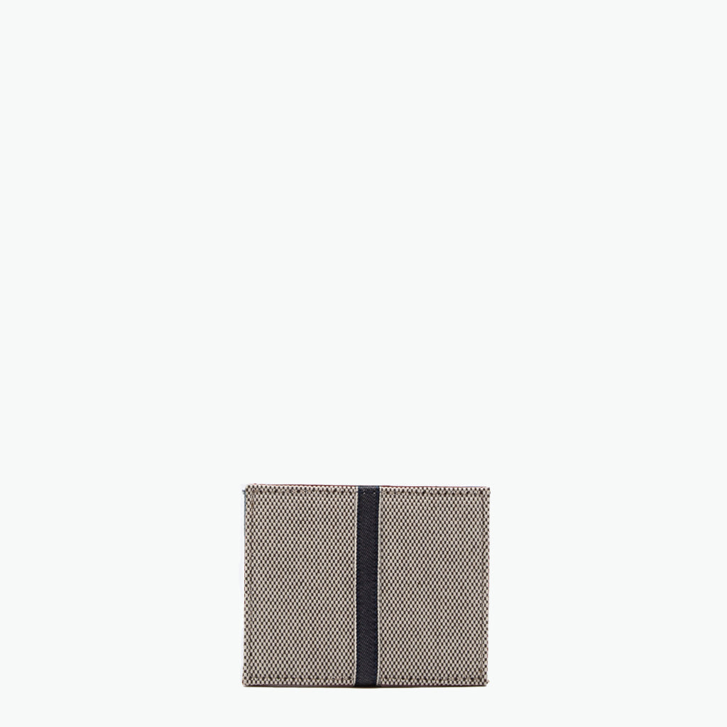 Oleandra Card Case Cotton Tweed and Leather