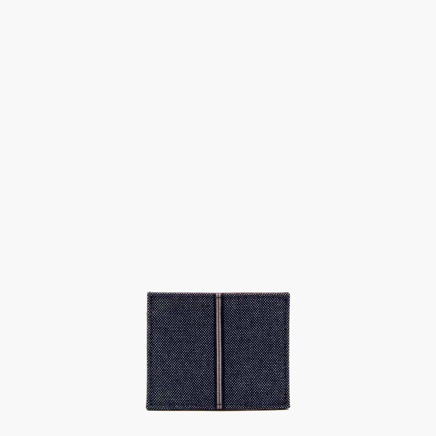 Oleandra Card Case Denim and Leather