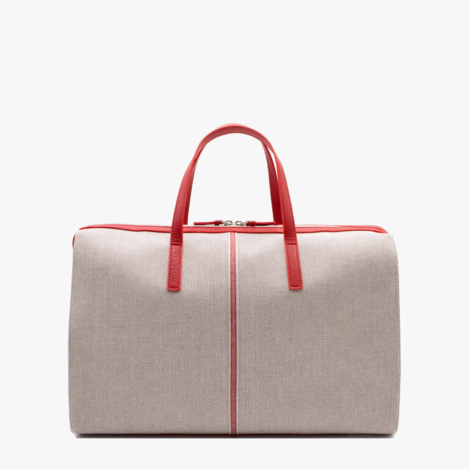 Rachele Satchel Cotton Tweed and Leather