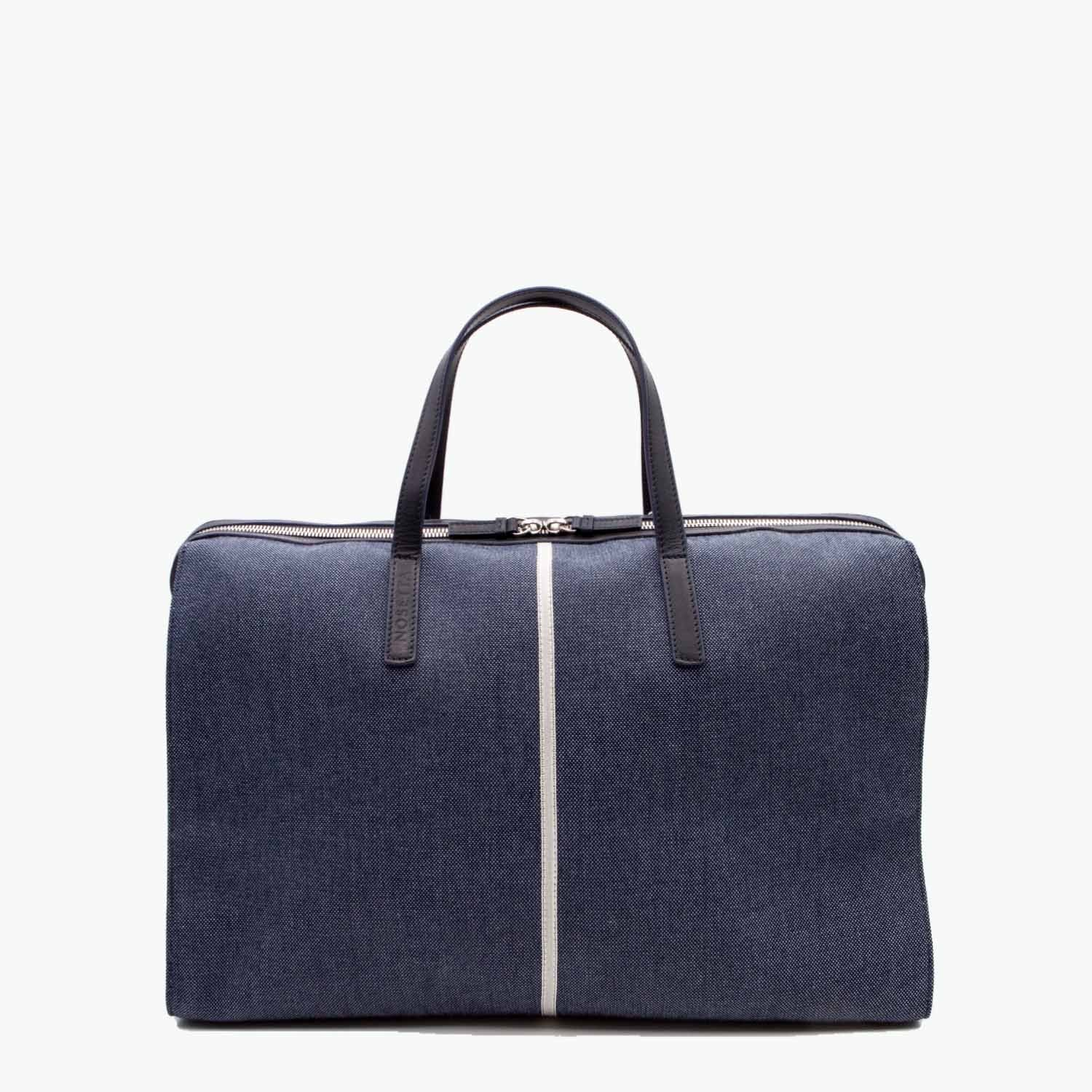 Rachele Satchel Denim and Leather - Nosetta