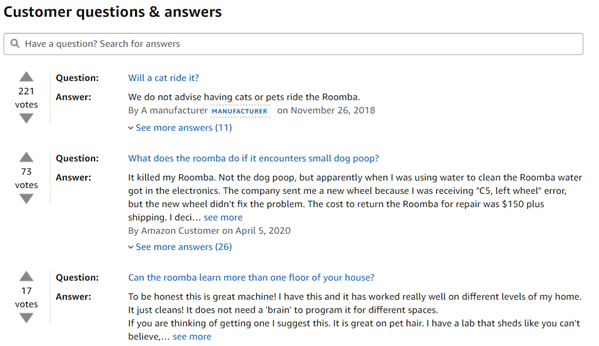 Customer Questions and Answers