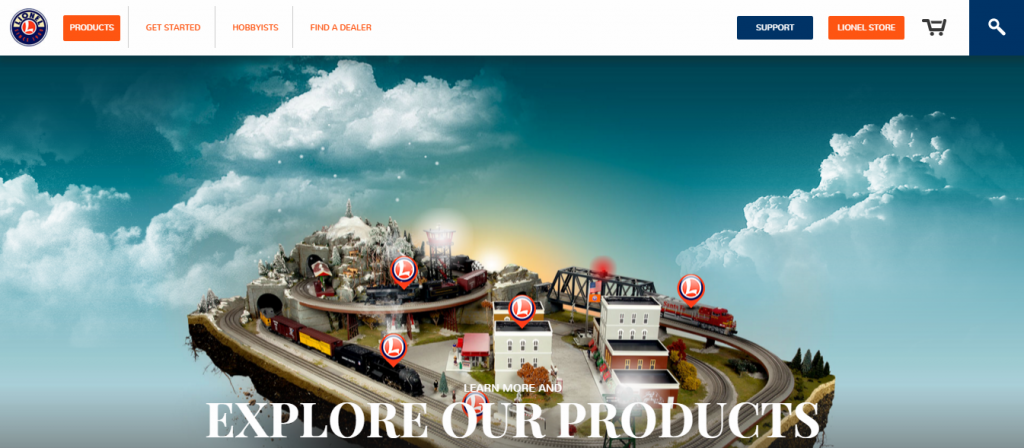 Lionel Trains Interactive Product Page