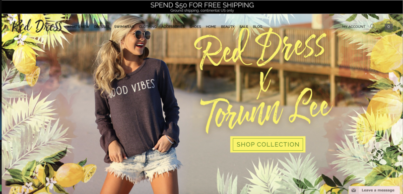 Red Dress Boutique Home Page