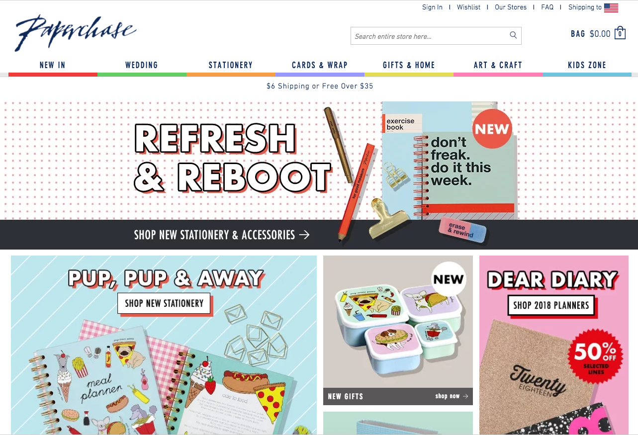 Paperchase B2C Website